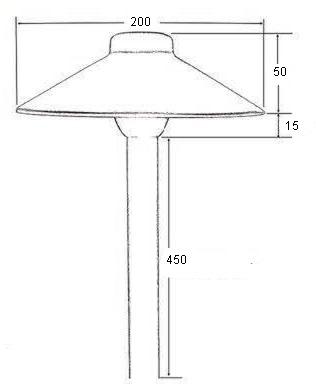 ландшафтный низковольтный светильник для дорожек